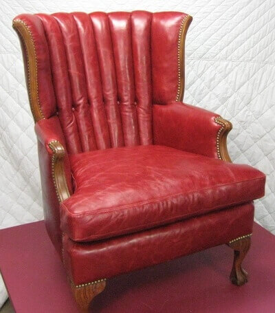 leather chair reupholstery
